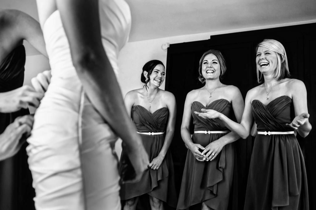 Bridal Party Excitement