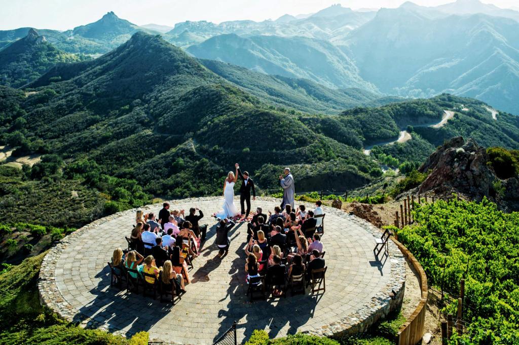 Mountaintop Malibu Marriage